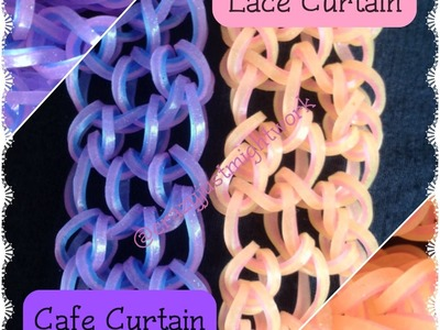 Lace Curtain AND Cafe Curtain Bracelet Tutorial (rainbow loom bands)
