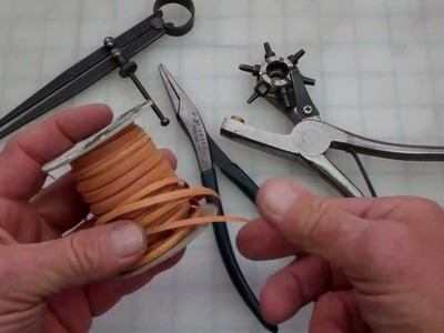 Leather lacing How to do the Whip Stitch