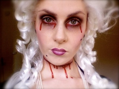 Marie Antoinettes ghost Halloween Makeup;.  'Let them eat cake!'