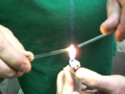 Melting boro glass with a lighter