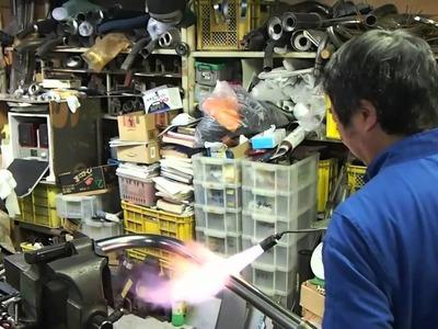 Old Yoshimura way. Pipe bending.
