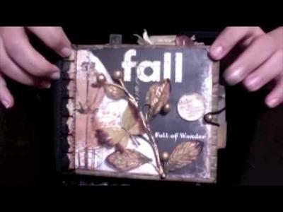 Shabby Chic Fall November Mini Album Swap