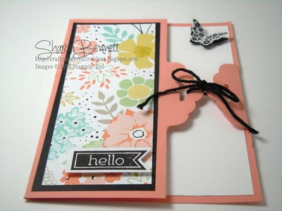 Stampin Up Scalloped Tag Topper Punch Card
