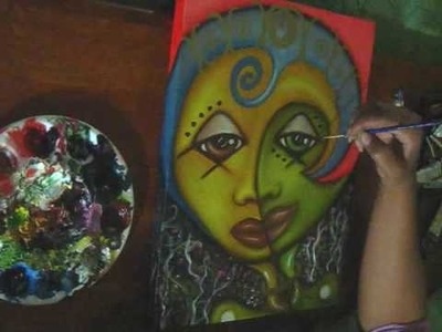 Sun Kissed Leaf - Time lapse painting & vlog by @CandyAcidReign