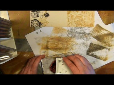 Tutorial - how to make a collage stamped background paper with stamps from vilda stamps