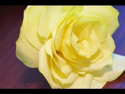 Watercolor Coffee Filter Paper Roses Instructional Tutorial