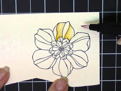 Watercoloring made easy with Stampin' Up! blender pens and markers.