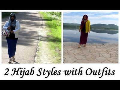 2 Hijab Styles with Outfits