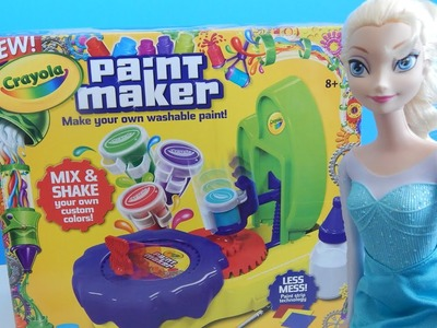 Crayola Paint Maker Craft Set Review with Disney Frozen Elsa