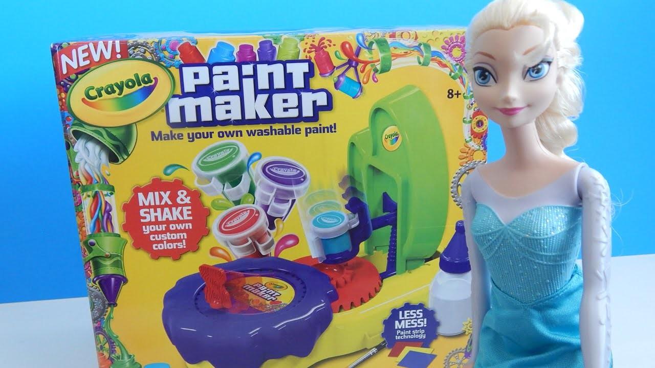 Crayola Paint Maker Craft Set Review with Disney Frozen Elsa