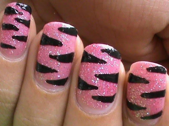 DIY: Pink Tiger Nail Art Designs | Step by Step Nail Art Tutorial