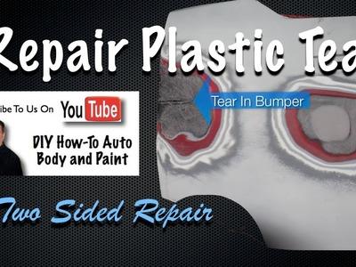 DIY Plastic Bumper Repair - How To Repair Cracks or Torn In Car Bumper Covers - Two-Sided