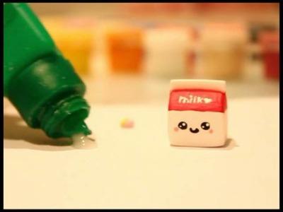 ◕‿◕ Kawaii Milk! -Kawaii Friday 37 (Tutorial in Polymer Clay)
