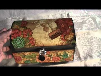 Graphic 45 Steampunk Debutante Altered Box and Paperbag Mini Completed
