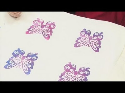 How To Apply Fabric Painting Stencils