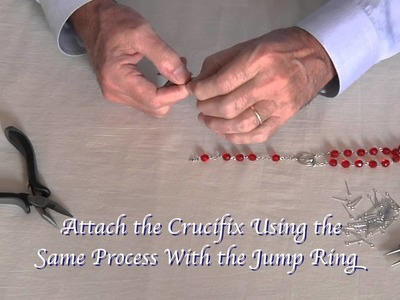 How to Attach the Crucifix - Rosary Making