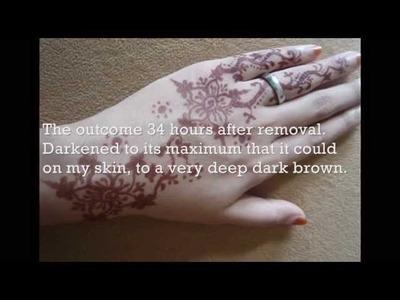 How to darken Henna.Mehndi with natural body heat