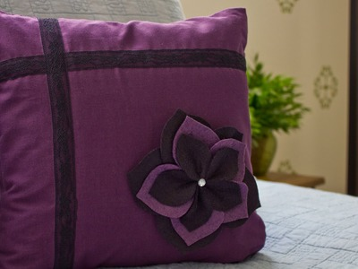 How to Make a Flower Pillow Sham