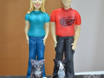 How to make a Standing Person Cake Topper