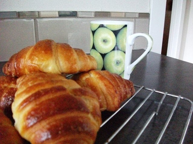 How to make croissants - folding, shaping and baking - ADDED RECIPE