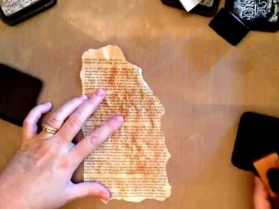 How to make paper look burnt and distressed