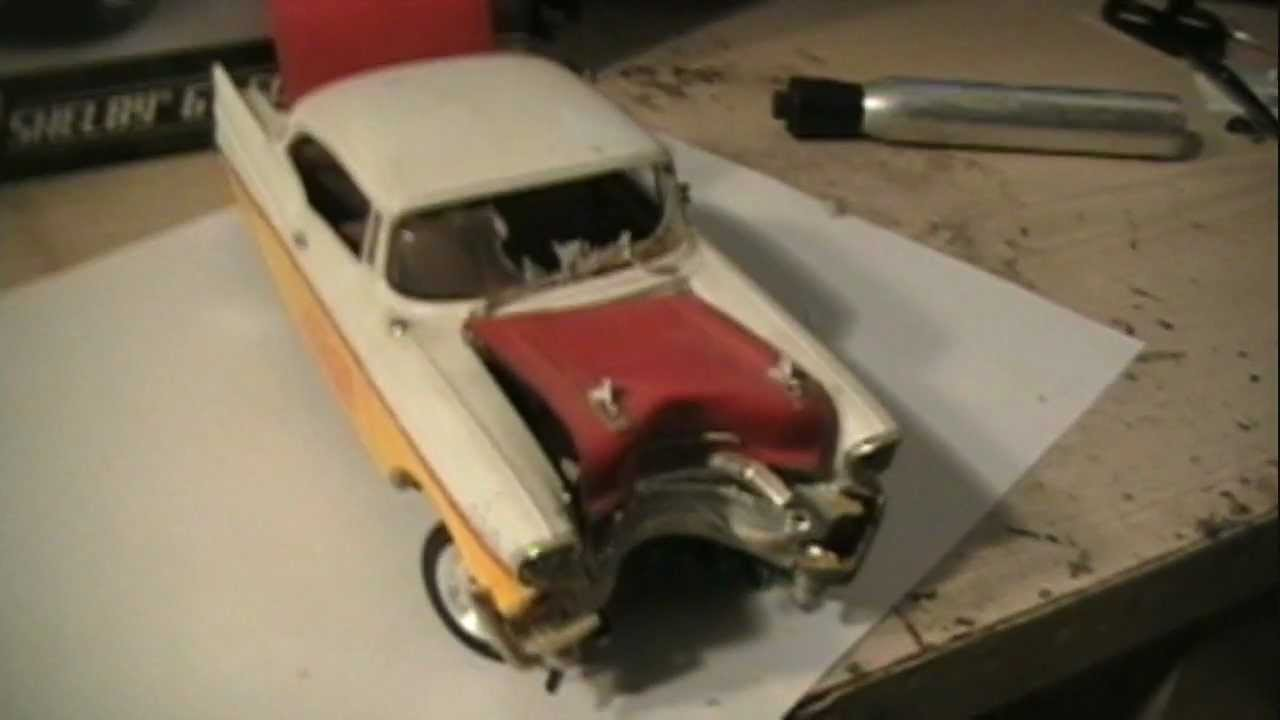 HOW TO MAKE YOUR MODEL CAR JUNKER LOOK LIKE IT WRECKED INTO A TREE OR POLE LESSON 3