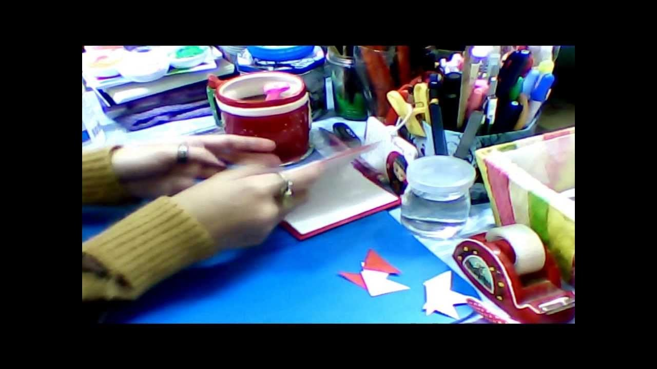 How to make your own little storybook (simple pop-ups 3D) Red Riding Hood part1