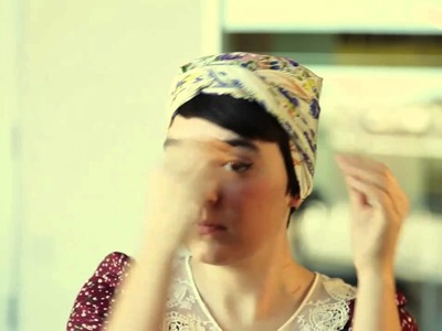 How To Tie a Headscarf: The Tastemaker Turban