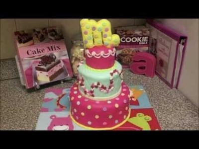 Maia's Pink Fondant Cake (2nd Fondant cake)