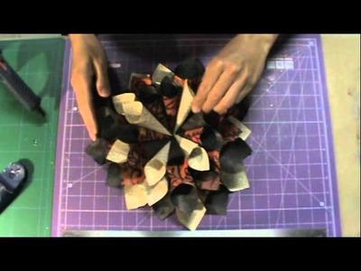 Paper Cone Wreath Part 2