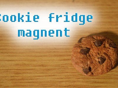 Polymer clay tutorial: cookie fridge magnet (realistic cookie)
