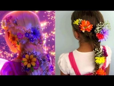 Tangled's Rapunzel Braid Tutorial  | A CuteGirlsHairstyles Disney Exclusive
