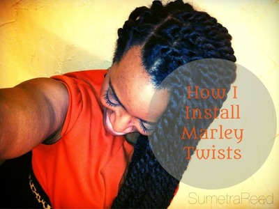 (21) Natural Hair Journey - Marley Twists Tutorial