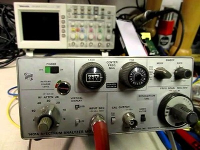 #22: Spectrum Analyzer Basics. Tutorial, and the Tektronix 1401A