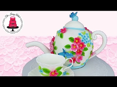 3D Carved Teapot Cake - How To With The Icing Artist