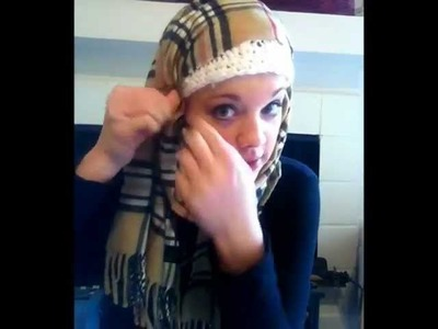 70 Second Hijab - Easy, Fast, Stylish (Cashmere Winter Scarf)