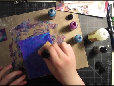 Alcohol Ink Background - Graduation Card