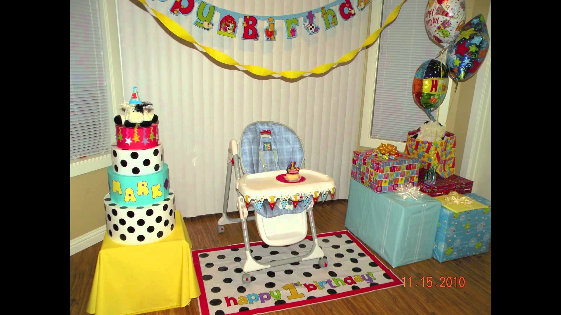 Baby birthday party decoration ideas.