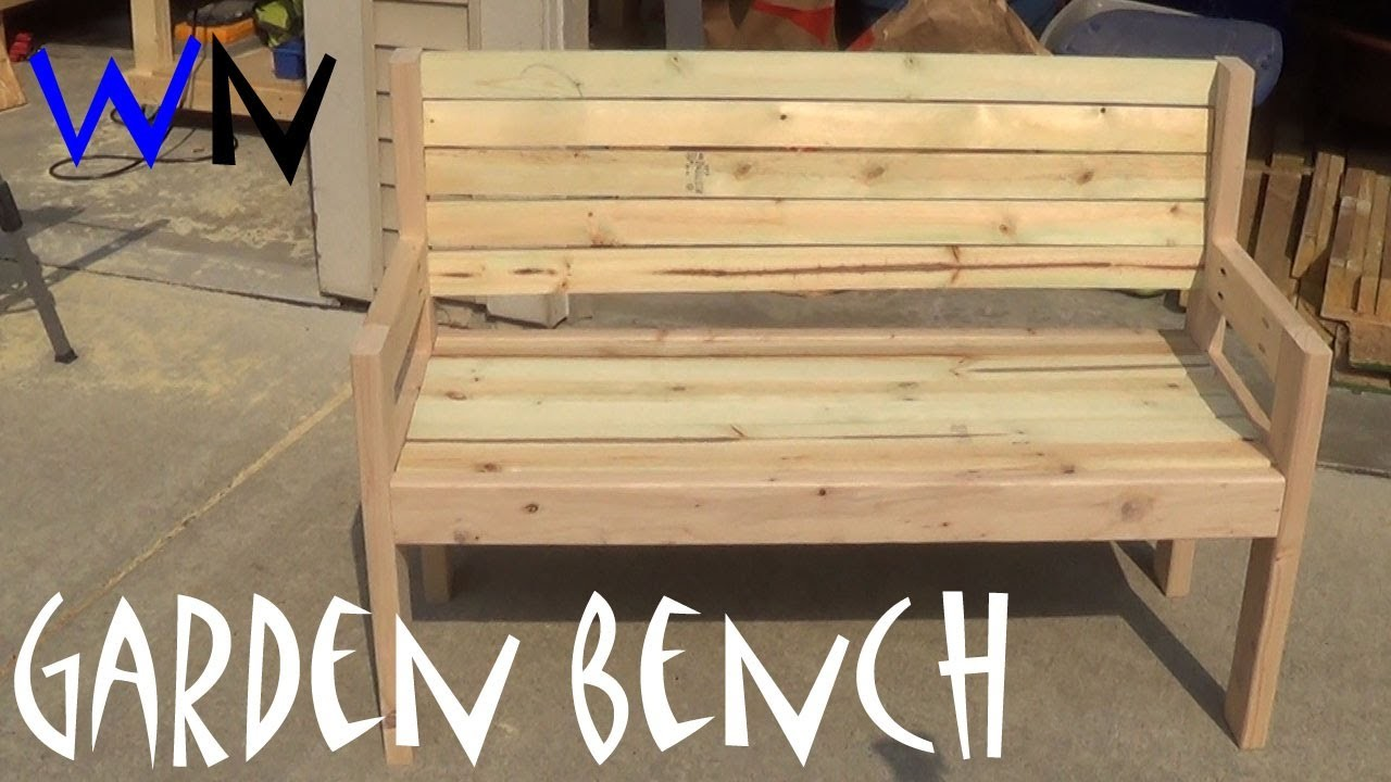 Building a Garden Bench |  Steve's Design