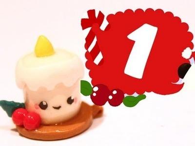 ❤ Candle! Kawaii Christmas 1 -Polymer Clay tutorial