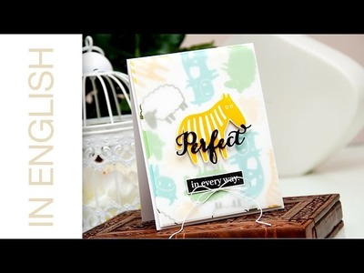 Colorful Background Stamping. Perfect in Every Way Card | Waffle Flower