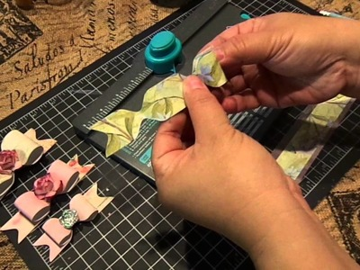 Create a bow with one strip of design paper with the WRMK Envelope Punch Board