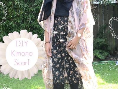 D.I.Y Easy Kimono Using a Scarf