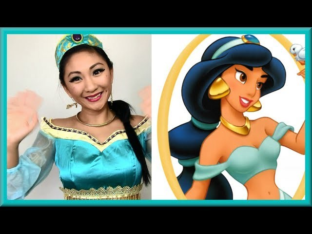 Disney's Princess Jasmine Makeup Tutorial (Halloween Makeup, Hair, Costume)