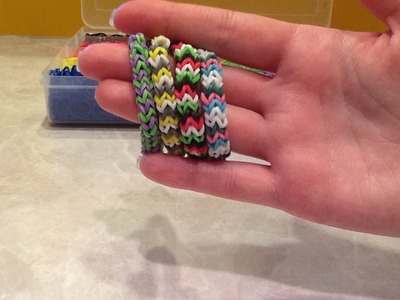 Easy Chevron Rainbow Loom Rubber Band Bracelet