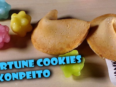 Easy Sweets; Fortune Cookie & Konpeito - Polymer Clay Tutorial
