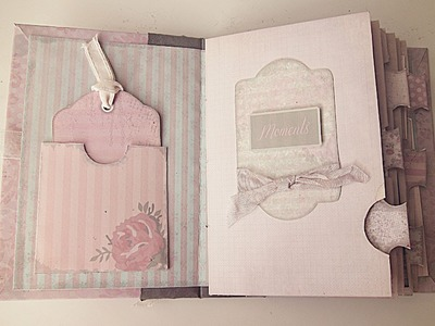 How to Bind the Shabby Chic Printable Mini Album