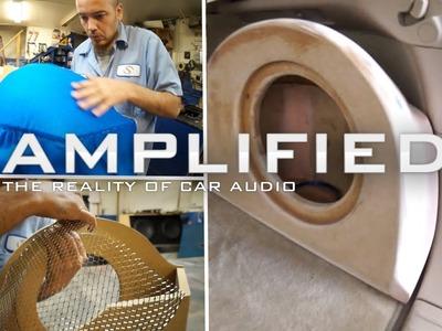 How to Build a Fiberglass Subwoofer Box, Lexus RX350 - Amplified #123