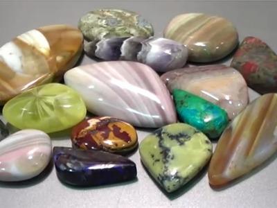 How to Cut and Polish Semi Precious Gemstone - Ribbonstone | Liz Kreate