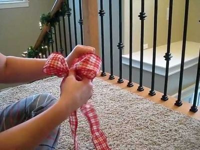 How to make a fancy bow. for gifts and decor. EASY!!!